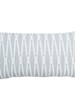 Kreatelier Diamond Pillow in Grey and White 12 x 21in