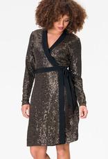 Leota Kara Dress in Gold Sequin