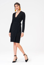 Leota Kara Dress in Moss Crepe Black