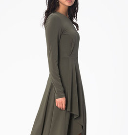 Leota Gemma Dress in Crepe Knit Moss
