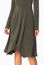 Leota Gemma Dress in Crepe Knit Moss
