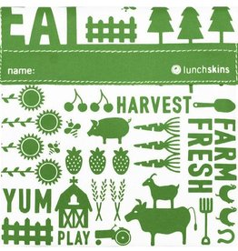Lunchskins Reusable Sandwich Bag Green Farm (Velcro)