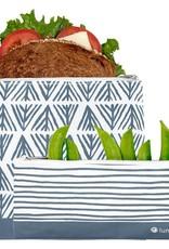 Lunchskins 2-Pack Reusable Bag Set Geo Blue (Zippered)