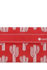 Lunchskins Reusable Snack Bag Cactus Red (Velcro)