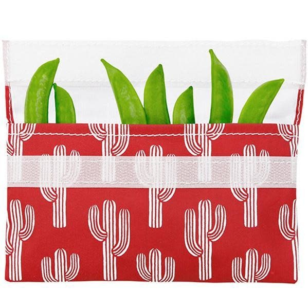 Lunchskins Reusable Snack Bag Red Cactus (Velcro)