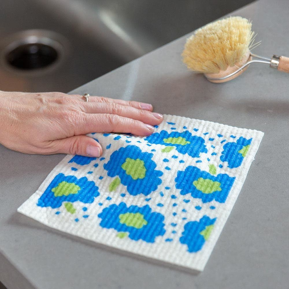 Rockflowerpaper Swedish Dishcloth Adelaide Blue Set of Two