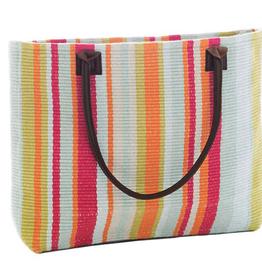 Dash & Albert Clara Stripe Woven Cotton Tote Bag
