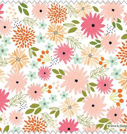 Gina B Designs Microfiber Cloth Blush Floral