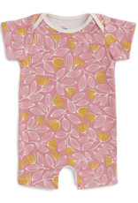 Winter Water Factory Summer Romper Holland Floral Pink & Yellow