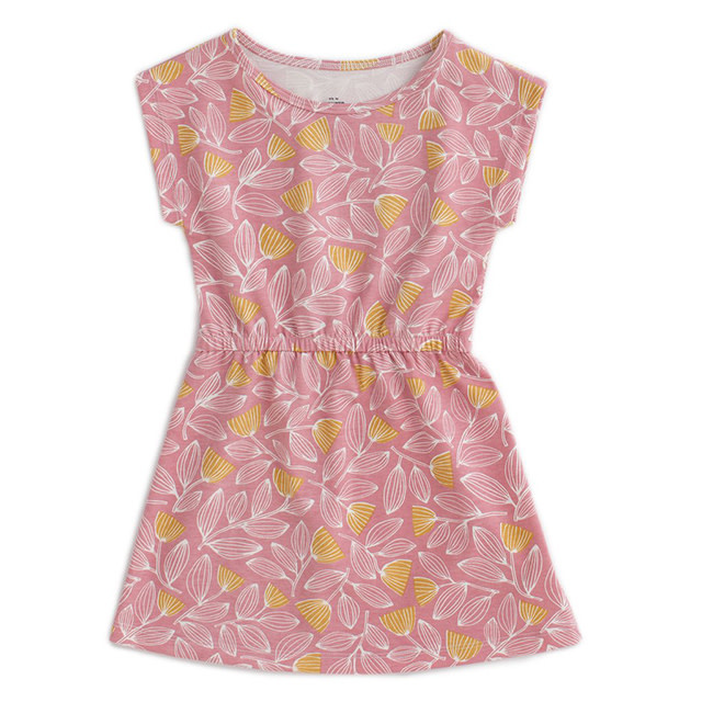 Winter Water Factory Sierra Dress Holland Floral Pink & Yellow