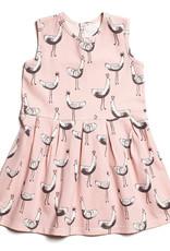 Winter Water Factory Essex Dress Bird Parade Pink