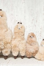 "Pokoloko Stuffed Standing Alpaca Beige 20"""