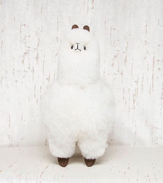 "Pokoloko Stuffed Standing Alpaca White 20"""
