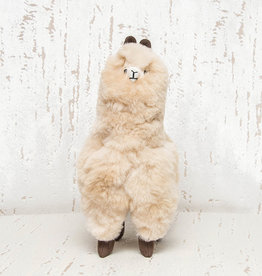 "Pokoloko Stuffed Standing Alpaca Beige 12"""