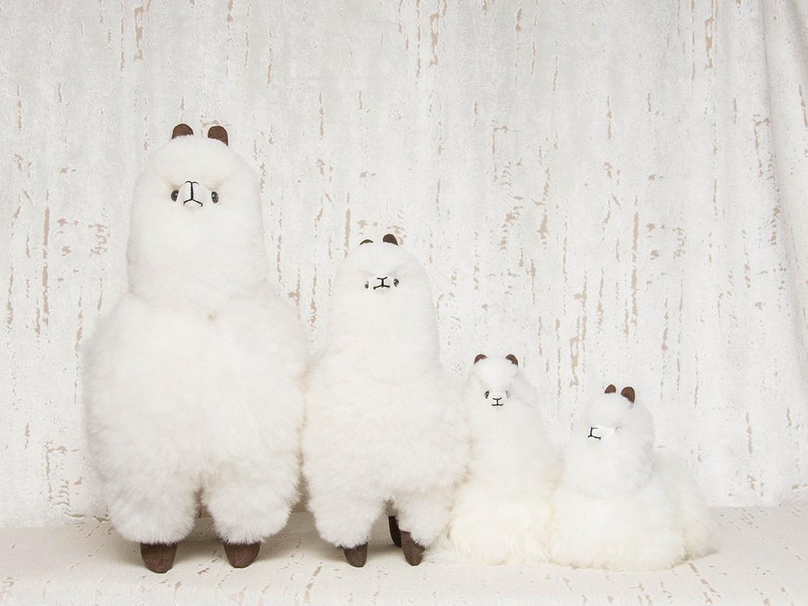 "Pokoloko Stuffed Standing Alpaca White 12"""
