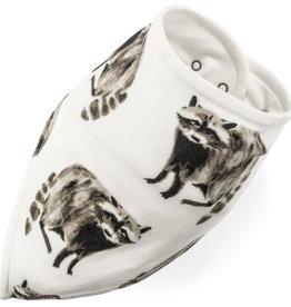 Milkbarn Bamboo Kerchief Bib in Raccoon