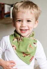 Milkbarn Kerchief Bib in Grey Pinstripe