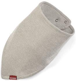 Milkbarn Organic Kerchief Bib Grey Pinstripe