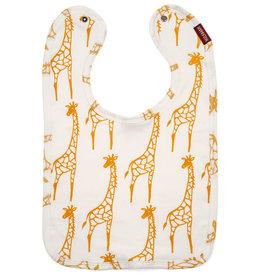 Milkbarn Bib in Yellow Giraffe