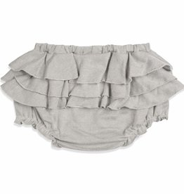 Milkbarn Ruffle Bloomer in Grey Pinstripe