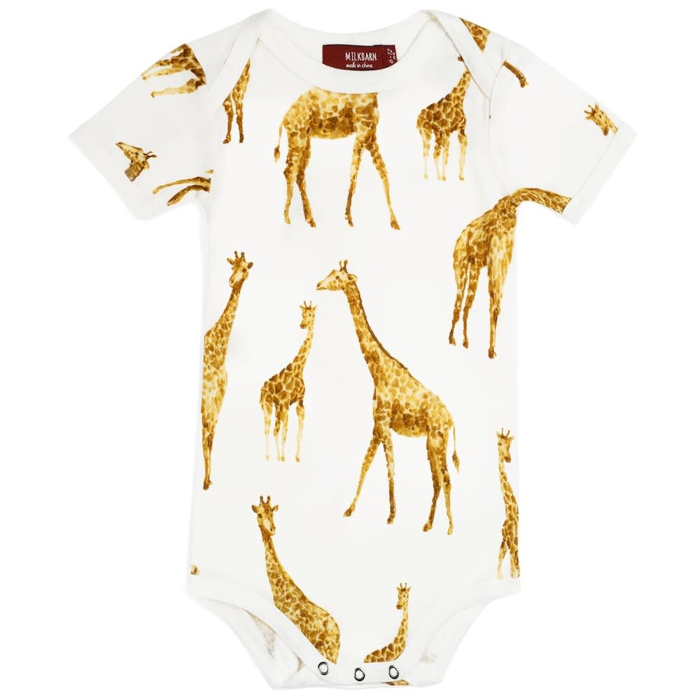 Milkbarn One Piece Orange Giraffe