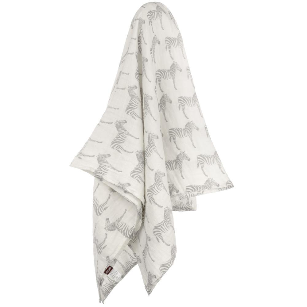 Milkbarn Swaddle Blanket in Grey Zebra