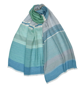 Daphne Striped Scarf Blue