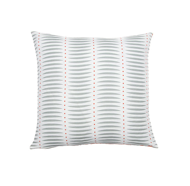Kreatelier Swoop Pillow in Grey 16 x 16in