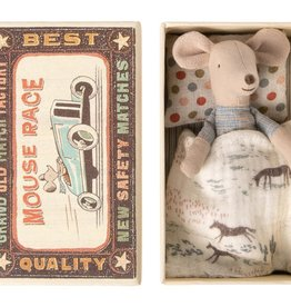 Maileg Mouse Little Brother Cowboy Blanket in Box