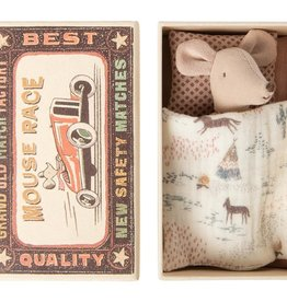 Maileg Mouse Little Sister Cowboy Blanket in Box