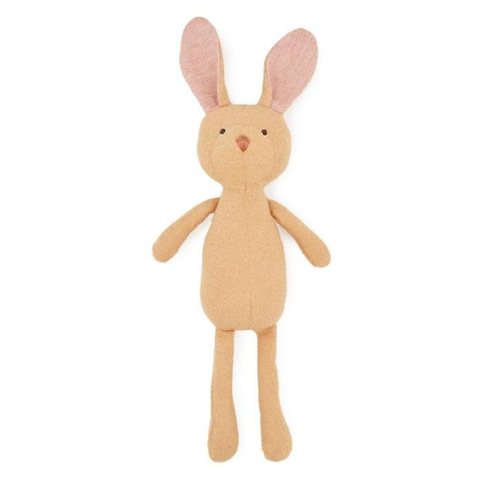 Hazel Village Stuffed Animal Juliette Rabbit in Linen Dress and Crown