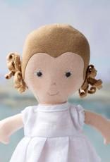 Hazel Village Doll Fern in Snowy White Linen Dress