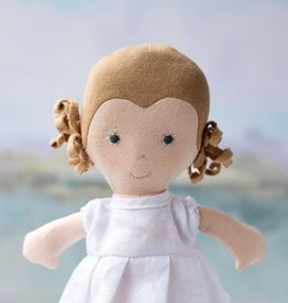 Hazel Village Doll Fern in Snowy White Linen Dress