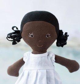 Hazel Village Doll Ada in Snowy White Linen Dress