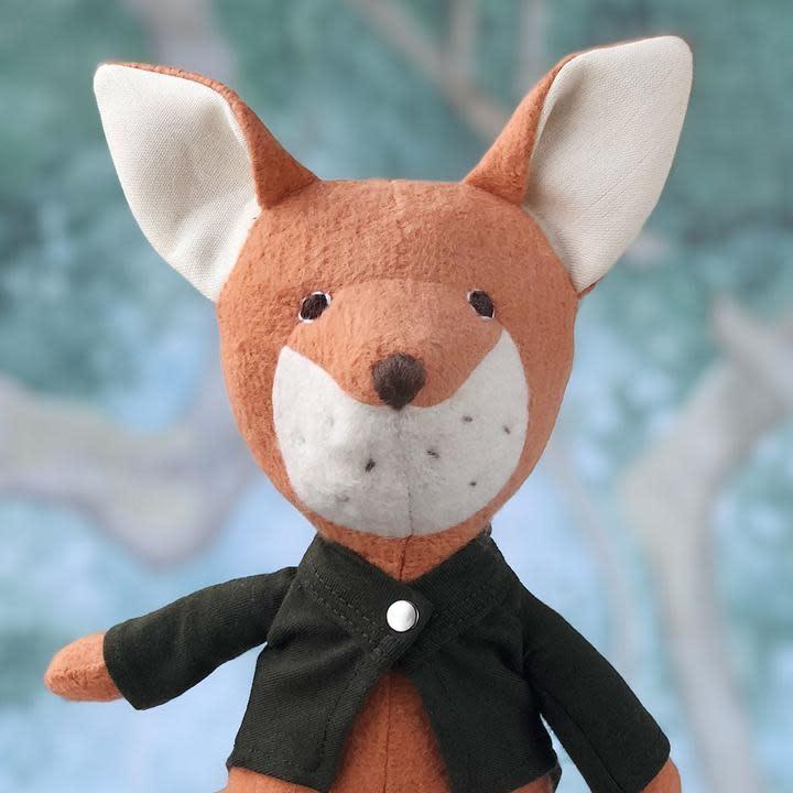 Hazel Village Stuffed Animal Owen Fox in Tailcoat