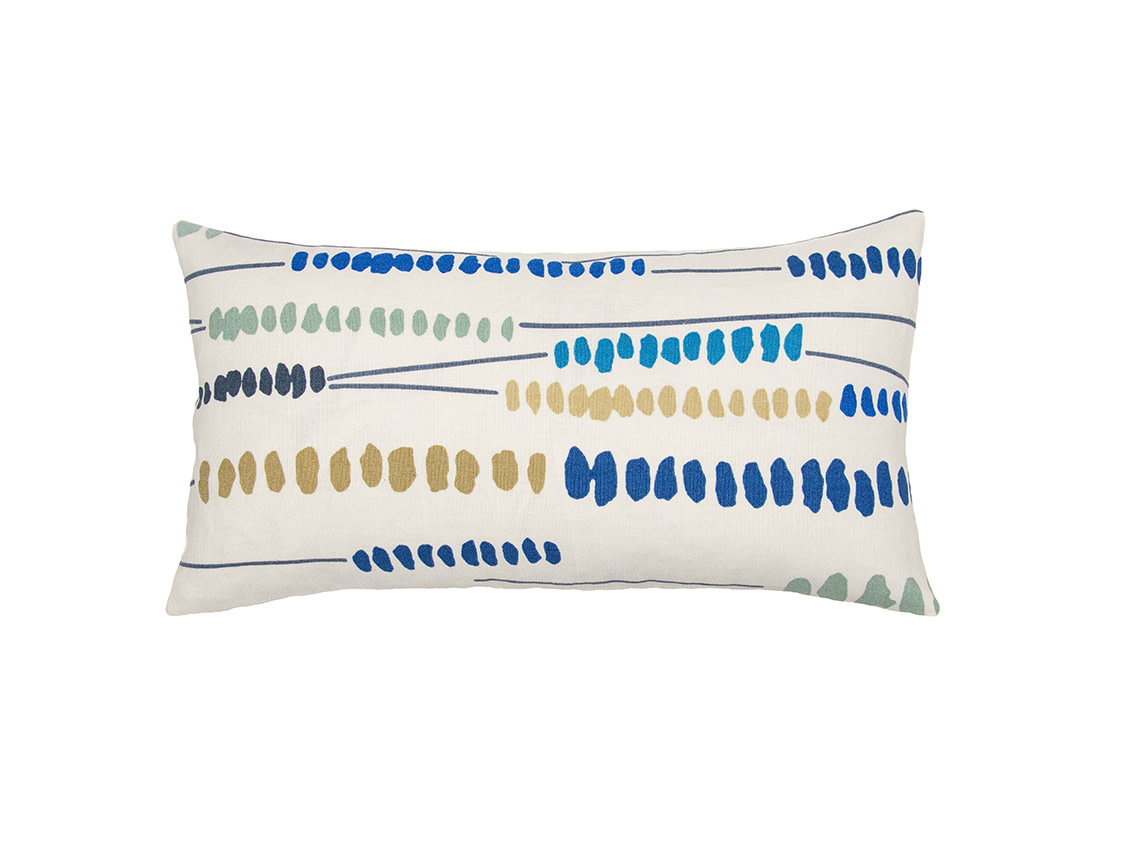 Kreatelier Modern Pillow in Blue 10 x 18in