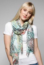 Fraas Scarf Jungle Floral Green