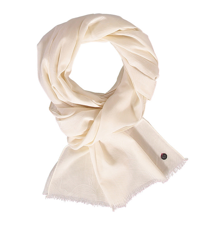 Fraas Scarf Touch of Floral White