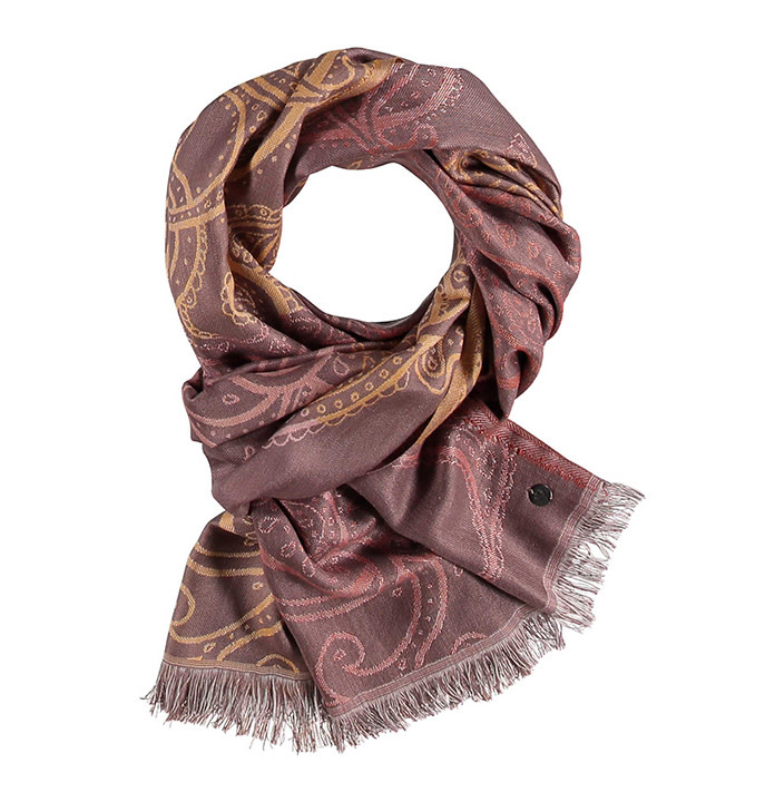 Fraas Scarf Ombre Paisley Yellow