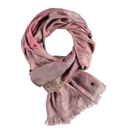 Fraas Ombre Paisley Scarf Coral