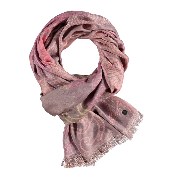Fraas Scarf Ombre Paisley Coral