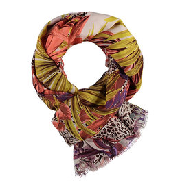 Fraas Scarf Jungle Floral Coral
