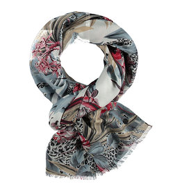Fraas Scarf Jungle Floral Denim