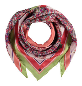 Fraas Scarf Vibrant Paisley Coral