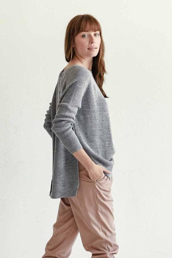 Mer-Sea & Co Camden Travel Sweater in Grey