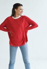 Mer-Sea & Co Camden Travel Sweater in Poppy