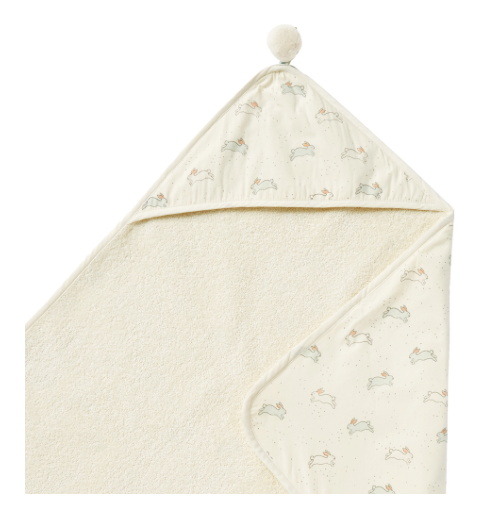 Pehr Designs Hooded Towel Tiny Bunny