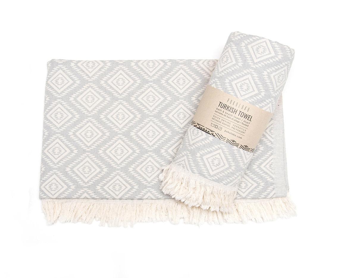 Pokoloko Turkish Towel Pyramid Light Grey