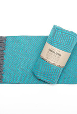 Pokoloko Turkish Towel Large Fishbone Teal