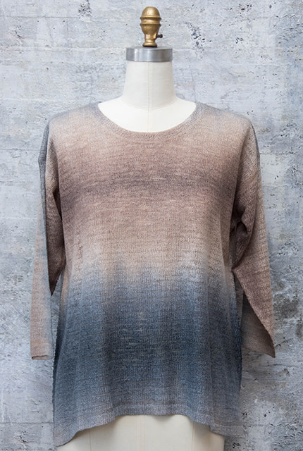 Nally and Millie Ombre Over Size Top in Frappe